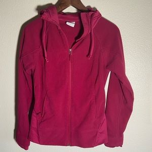 Columbia Fleece Hooded Jacket Womens Size Small